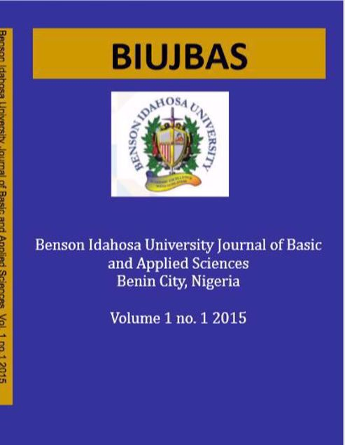 Picture of Benson Idahosa University Journal of Basic and Applied Sciences. Vol One(1) No 1