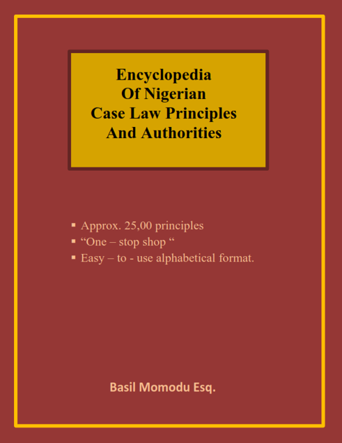 Picture of ENCYCLOPEDIA OF NIGERIAN CASE LAW PRINCIPLES AND AUTHORITIES (MAIN EDITION))