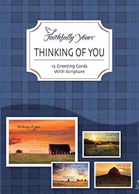 Picture of Thinking Of You Pack Of 12 Cards With Scripture
