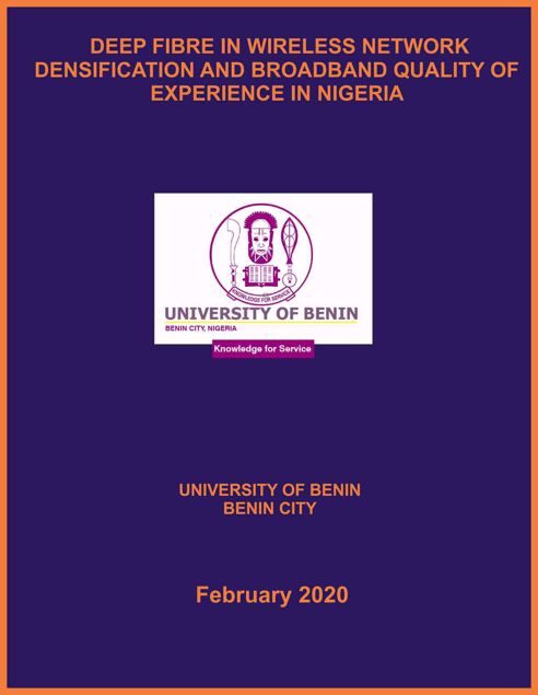 Picture of DEEP FIBRE IN WIRELESS NETWORK DENSIFICATION AND BROADBAND QUALITY OF EXPERIENCE IN NIGERIA