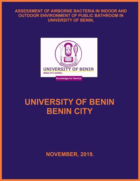 Picture of ASSESSMENT OF AIRBORNE BACTERIA IN INDOOR AND OUTDOOR ENVIRONMENT OF PUBLIC BATHROOM IN UNIVERSITY OF BENIN,  BENIN CITY