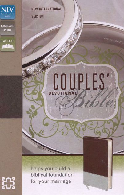 Picture of NIV-COUPLES DEVOTIONAL BIBLE chocolate silver
