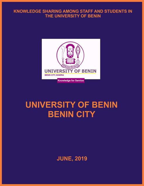 Picture of KNOWLEDGE SHARING AMONG STAFF AND STUDENTS IN THE UNIVERSITY OF BENIN